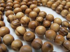 300 ~ TOP QUALITY Olive Wood 6mm Round Beads Polished Rosary Jewelry Bethlehem