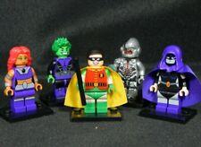 Teen Titans Go Set of 5 Minifigs Robin Starfire Raven Cyborg Free Usa Ship