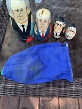 Vintage Set of 4 Men Nesting Dolls Authentic Models