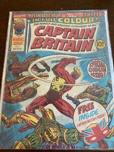 Captain Britain 1 - Origin And 1st App Captain Britain. Key Book. (No mask) 1976