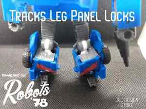 Leg Panel Locks for Kingdom Tracks Transformers JRC DESIGN UPGRADE KIT