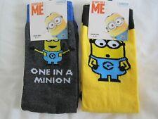 Da Uomo Cotone Novità Design Minion ragazzacci STREET Socks Nero Giallo Taglia 6-11