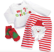 NWT Mud Pie Baby My First Christmas Set 0-6 months