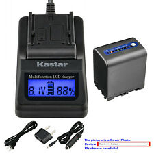 Kastar Battery LCD Fast Charger for Sony NP-QM91D & Cyber-shot DSC-F828 DSC-R1