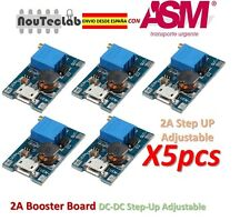 5pcs 2A Booster Board DC-DC Step-up 2/24V to 5/9/12/28V Micro USB Replace XL6009