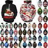 Xmas Hoodie Sweatshirt Couple Women Men Christmas 3D Tops Funny Pullover Jumper