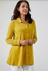 BNWT Beautiful Swing Hem Shirt with Pockets by Michele Hope Citrine Size 22/24
