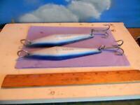 PAIR OF SALAS BLUE & WHITE PDQ SALTWATER BOTTOM FISHING/YO-YO JIGS-NEW/OTHER?