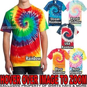 Tie Dye Mens T-Shirt RAINBOW Tye Dyed Tee S, M, L, XL, 2XL, 3XL, 4XL NEW