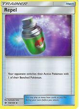 4 X POKEMON SUN & MOON CARD: REPEL - 130/149