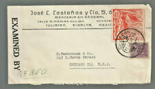 1942 censored airmail commercial cover Culiacan Mexico to Chicago Il