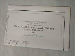 USDA Forest Service Topographic Map NANTAHALA NATIONAL FOREST North Carolina VTG