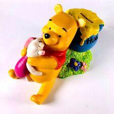 Vintage Disney Applause Winnie The Pooh Piggy Bank Piglet & Hunny Pot Plastic