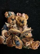 "Boyds Bears & Friends Bearstone Figurine ""Bailey & Becky. The Diary"" #228304"