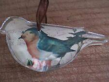 BLUE BIRD ~ CRYSTAL BIRD ORNAMENT