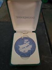 Wedgwood Blue Jasperware Moose Reindeer Ornament in Original Box