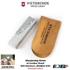Victorinox #30412 SwissArmy Sharpening Stone, w/Leather Pouch, Soft Arkansas