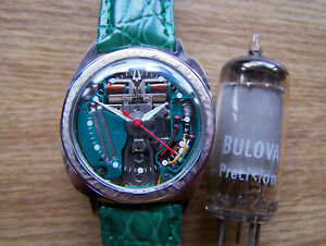 Accutron 214 Asymetric 1963 M3 SPACEVIEW Tuning Fork Electronic rebuilt Great