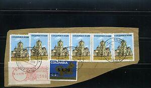 MARCOFILIA,-CATEDRAL SANTA MARTA   CALI - BOLIVAR {CAUCA} 1976 >stamps-label