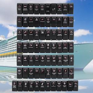 Boat Car Marine Rocker Switch Red Dual LED ILLUMINATED SPST ON-OFF Light 12V