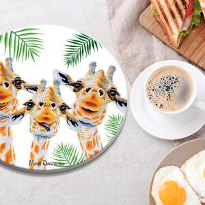 Maree Davidson Art Ceramic Round Trivets 20cm Glossy Anti-fading Platter Mats