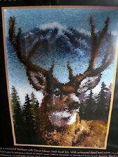 Caron Latch Hook RUG Kit,DEER,Buck,White Tail,Mountains,Trees,20 x 30,#CC0102