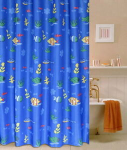 Colorful Animal Fish Design Bathroom Fabric Polyester Shower Curtain 2s234