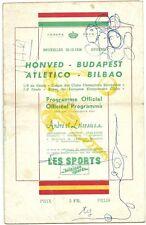 PROGRAMME HONVED BUDAPEST - ATLETICO BILBAO 20/12/1956 1/8 fin C1