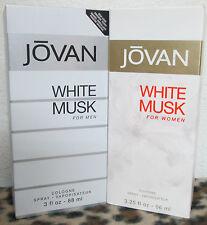 2 bottles jovan white musk (1 men and 1 women) perfume and cologne big bottles