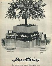 PUBLICITE ADVERTISING 034   1963   MARCEL ROCHAS   parfum  MOUSTACHE