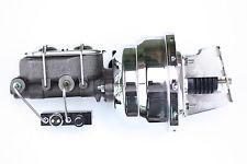 "Chevy C10 C20 8"" Dual Chrome Power Brake Booster Kit  Adj. Combo valve 4VBC7"