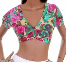 Emerald/Magenta Crop/Cap Bolero/Shrug/Cover-Up Top S