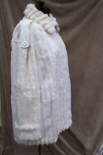 REDUCED! SUPER SOFT Warm and Cozy Cream Color Vintage Womens Fur Stroller L/XL
