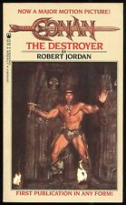 Conan The Destroyer 1984 Movie Paperback PB Schwarzenegger REH Robert Jordan Tor