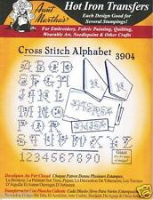 Cross Stitch Alphabet Aunt Martha's Hot Iron Embroidery Transfer #3904