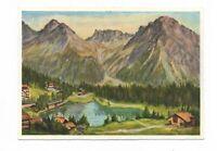 AK, Künstlerkarte von P.A. Meyer, Unterseeli, Arosa mit Maienfelder Furka