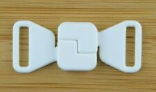 Bikini Verschluss  Weiss  12 mm Trägerbandbreite