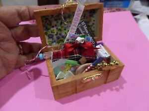 Filled Trunk with tons of goodies Dollhouse Miniature 1:12 Gailslittlestuff#4