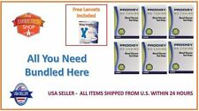 300 PRODIGY NO CODING BLOOD GLUCOSE TEST STRIPS EXP:03/2019 FREE LANCETS + S&H