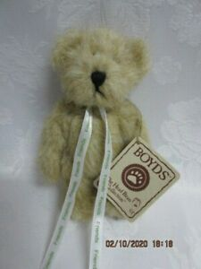 """Vtg NWT Boyd's 5"""" Jointed Bear with Friends Ribbon, 1998-2006"""