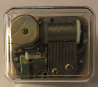 Over the Waves Sankyo Clear See-Thru Moving Mechanics Mechanism Music Box w/Key