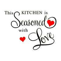 1X(THIS KITCHEN IS SEASONED WITH LOVE Wall Sticker ART Home KITCHEN Decor H3R6)