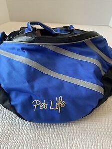 PET LIFE Everest DuPont Blue Dog Backpack MEDIUM