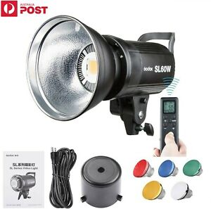 Godox SL-60W 5600K LED Video Studio Light Photography Lighting Bowens + Filters