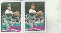FREE SHIPPING-MINT-1989 Cleveland Indians Topps  #315 Greg Swindell-2 CARDS