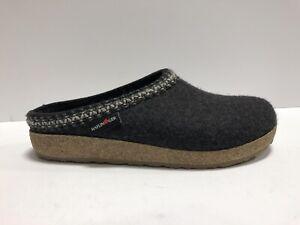 Haflinger Womens Zig Zag Clog Slipper Gray Size US10 M