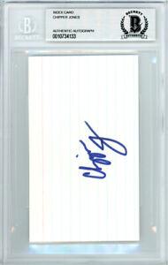 Chipper Jones Autographed Signed 3x5 Index Card Atlanta Braves Beckett 10734133