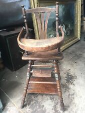 Oak Antique Baby / Dolls High chair/ Low chair
