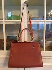 Delvaux Pebbled Leather Frame Handbag, Satchel or Tote, Classic and Ladylike!