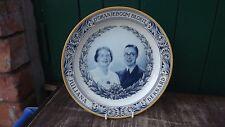 1937 Wedding Princess Juliana of Netherlands & Prince Bernard Portrait Plate